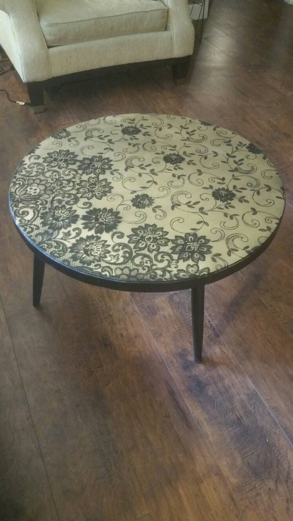 Mid Century Round Black And Gold Coffee Table Coffee Table