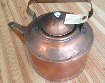 Vintage Copper Water Kettle