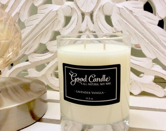Lavender Vanilla - Double Wick Soy Wax Candle