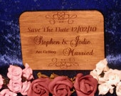 Save The Date Card - Ply - Laser Engraved & Cut - Vary In Size But Approx 80mm x 100mm Option 5