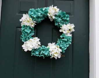 Beautiful hydrangea wreath