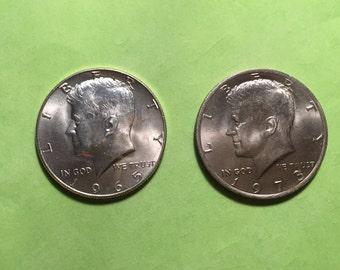 1965 & 1973 Kennedy Half Dollar