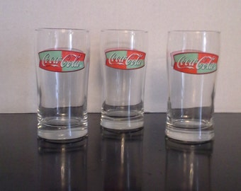 Vintage Anchor Hocking Coca-Cola glasses  set of 3