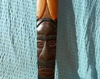Large Hand carved African mask.