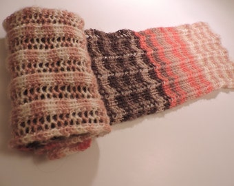 Fall colors fancy openwork scarf