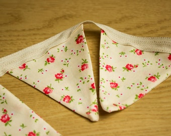 Country Cottage Yellow Floral Bunting 145cm
