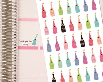 Champagne Celebration Planner Stickers!