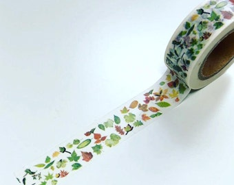 Autumn washi tape, fall washi tape, leaves washi tape, planner washi, washi tape