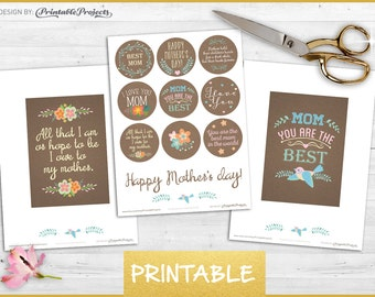 Happy mothers day LABELS & GREETING CARDS / mothers day quotes / printable tags / best mother gift / mothers day 2016 / gift cards ideas