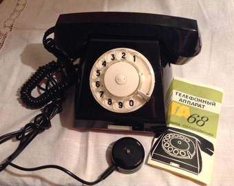 Brand New Vintage Phone. Rotary Dial Phone From the USSR