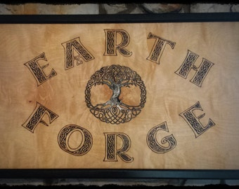 Custom Woodburning and Artwork - Earth Forge