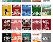 Vertical Printable Stickers for Erin Condren boxes, Plum Paper Planner, Filofax, Traveler's Notebook, Inkwell Press, Etc.