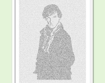 Sherlock Holmes - Text Art Print - Free AU Shipping