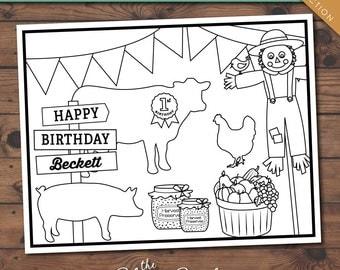 County Fair Collection Printable Kid's Coloring Sheet