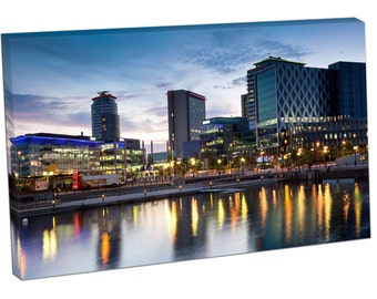 60147 Print On Canvas Salford Quays MANCHESTER ENGLAND