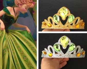 Anna Crown,disney crown,disney princess crown,Princess Crown,disney,frozen anna,green crown,disney anna,princess anna,cosplay,elsa crown
