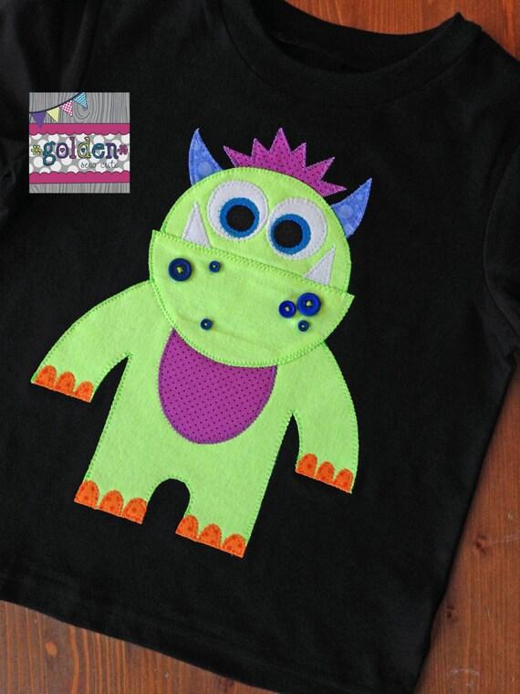 Halloween Monster Neon Green Boy Tee, Boy Shirt, Onesie