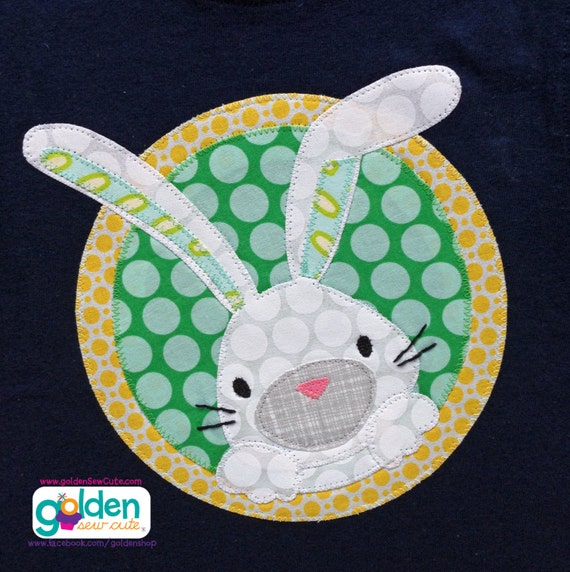 Easter Bunny with Circle, Girl Boy Tee