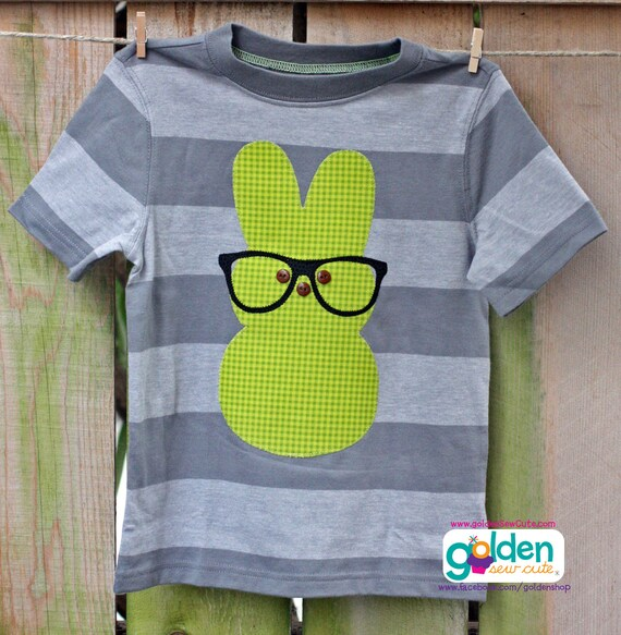 Easter Bunny Peep, Choose your accessory and fabric Boy Spring Tee