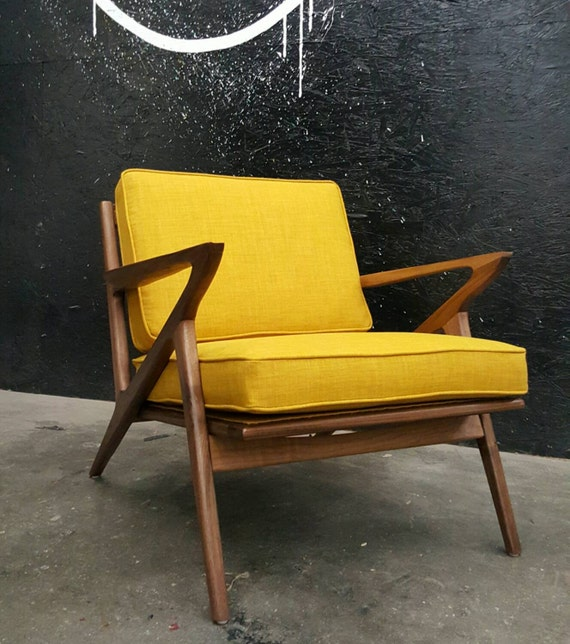 Mid century selig style z chair by tdfurniture on etsy for Z chair mid century
