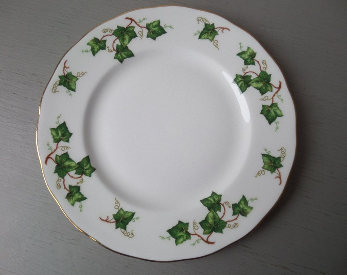 "Colclough Ivy Leaf Bone China Sandwich Plate 8.25"", Side Plate, Tea Plate, Immaculate Condition, Mid Century English Fine Bone China, 1960's"