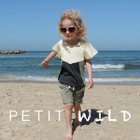 SALE/Boys Clothing Set/ Girl Clothing Set/ Harem Shorts And Tri colour Top/ Summer Set/ Kids Summer Set/ Toddler Hipster/ Kids Set Clothing