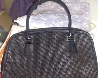 1980's iSanti calfskin leather bag made in Italy