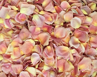 Freeze Dried Rose Petals, Peach, 10 cups of REAL rose petals, perfectly preserved