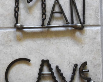Man Cave Wall Decor Metal Art Sculpture Industrial