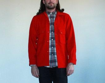 Vintage Red Wool Boy Scout Jacket - Size 38
