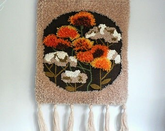 Vintage 1970s Textile Wall Hanging