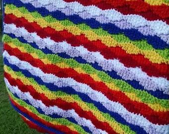 Simply Gorgeous Rainbow Lazy Waves Blanket