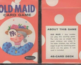 unopened vintage politically incorrect circus old maid card game.