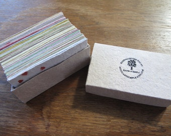 50 pcs blank business card assorted colors/ handmade recycled paper business card/ eco-friendly business card