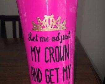 Pink Crown Travel Mug