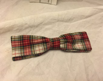 Vintage 1950s or 60s Ormond NYC Plaid Bowtie  Bow Tie vintage clothing