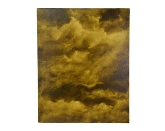 Abstract Sepia Tone CloudScape Painting Skyscape Chicago Artist Kopala #14