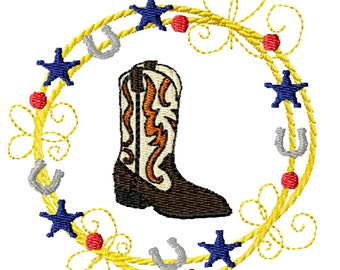 Cowboy Boot -Machine Embroidery Design