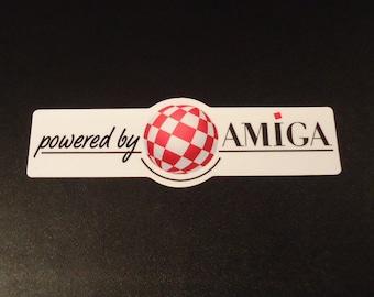 Commodore Amiga Bouncing Ball Label / Aufkleber / Sticker / Badge / Logo 9,0cm x 2,8cm [303b]
