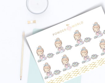 NEW laundry day - washing day   pouchi daily  stickers planner