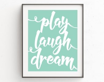 Nursery Quotes, Nursery Sayings, Word Prints, Wall Decor Kids, Word Wall Art, Prints Quotes, Kids Wall Art, Childrens Prints, Blue and White