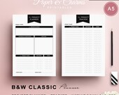 Project Tracker, Planner A5, Minimalist, Project Planner, Weekly Planner, PDF Printable, Handmade Planner, Planner A5, Instant Download
