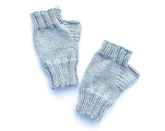 Fingerless Mittens Hand Knit