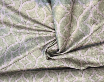 """P Kaufmann NURI Velvet Print Fabric 54"""" Pistachio Soil and Stain Repellent by the yard"""