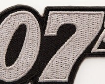 007 Patch James Bond Embroidered Iron on Badge Costume Cosplay Applique Motif Bag Hat T-Shirt Spy MI5 Daniel Craig Collectible Souvenir