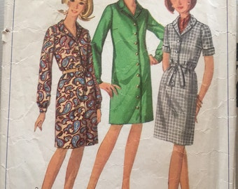 Vintage Simplicity 6700 Plus Size Dress Pattern-size 20 1/2 (41-35-45)