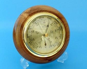 Barometer in Elm wood