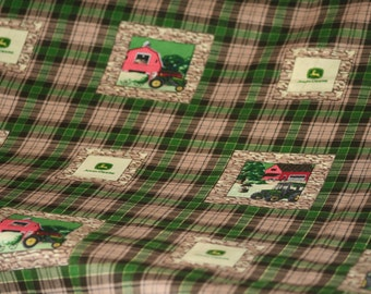 John Deere Fabric in squares