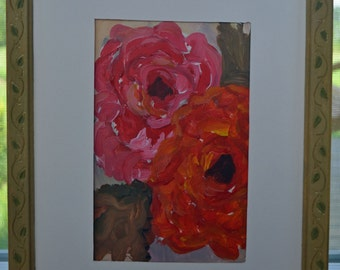 Flower Painting #5 Framed