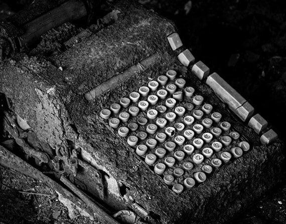 Distillery, Haunting, Adding Machine, Wood Print, Abandoned, Urban Exploration, Rust, Industrial, Wall Art, Pittsburgh, Pennsylvania